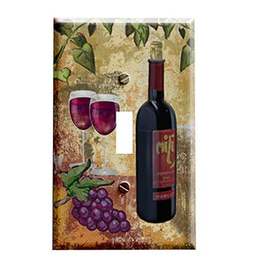 Grapes and Red Wine Switch Plate Cover