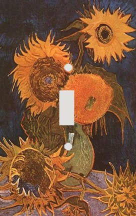 Vincent Van Gogh Vase with Sunflowers Switch Plate Cover