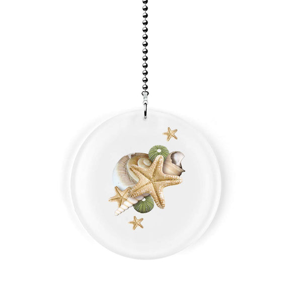 Starfish and Seashells Fan/Light Pull