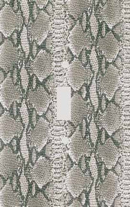 Grey Snakeskin Print Switch Plate Cover