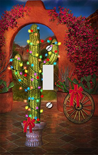 Southwestern Christmas Cactus Switch Plate Cover