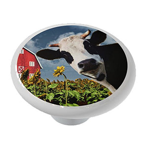 Cow at The Sunflower Farm Ceramic Drawer Knob