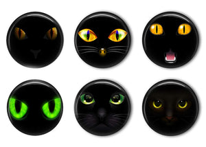 Eyes of the Cat Refrigerator Magnet Set