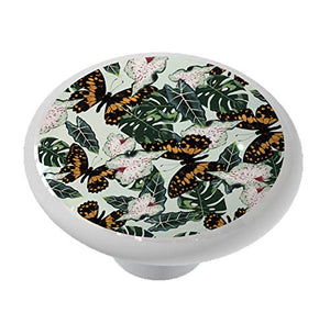 Tropical Monarch Butterfly Garden Drawer Knob