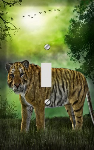 Tiger in the Mist Switch Plate Cover