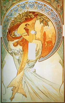 Fine Art Mucha Poetry Switch Plate Cover
