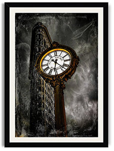 "Flat Iron Building--Instance in Time 20"" x 30"" Framed Fine Art Print By Paul Brake"