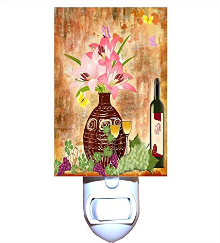 Italian Wines and Lilies Night Light