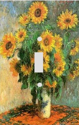 Claude Monet Sunflowers Switch Plate Cover