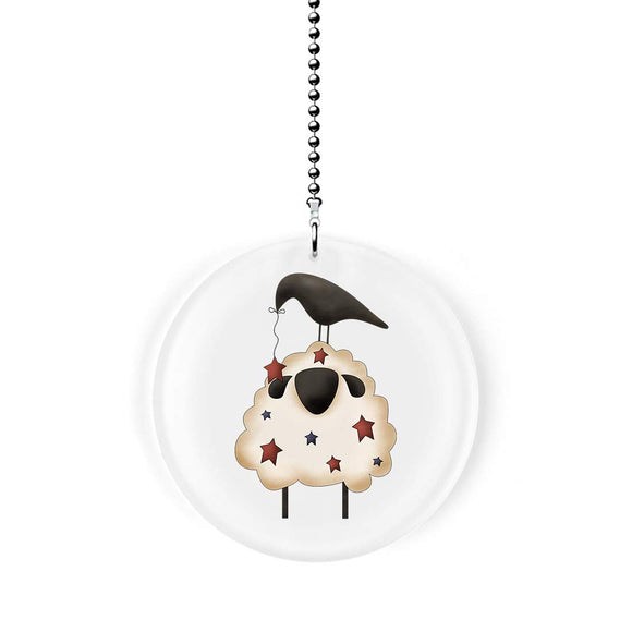 Americana Sheep and Crow Fan Pull