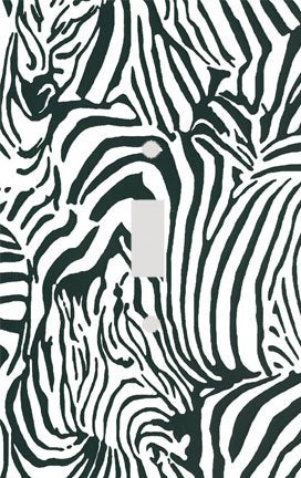Zebras in Zebra Skin Stripe Print Switch Plate Cover
