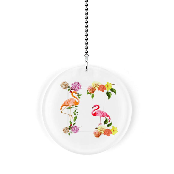 Flamingo Florals Fan Pull