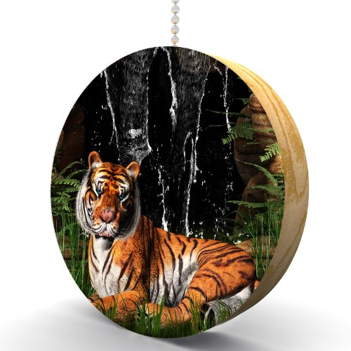 Waterfall Tiger Hardwood Oak Fan/Light Pull