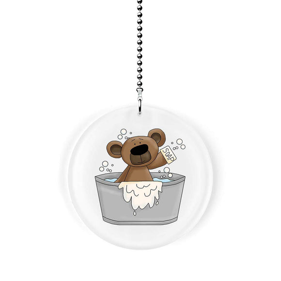 Bath Time Bear Fan Pull