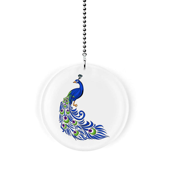 Elegant Peacock Design Fan/Light Pull