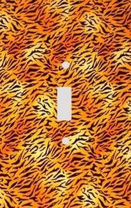 Horizontal Hot Tiger Skin Print Switch Plate Cover