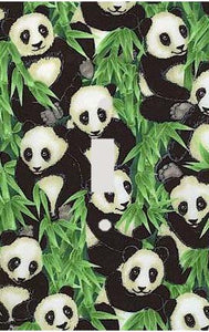 Panda Collage Switch Plate Cover