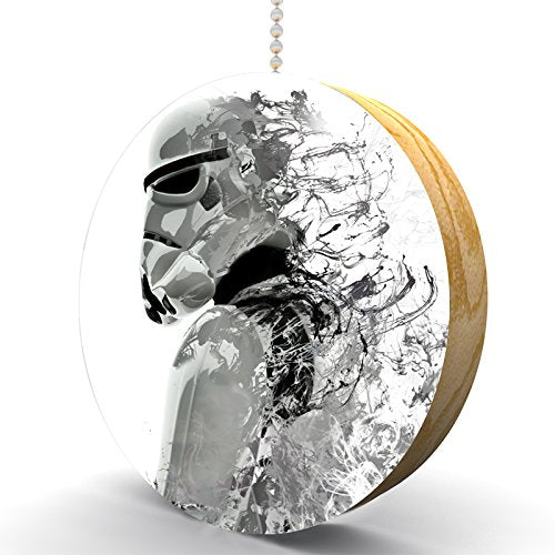 Storm Space Trooper Hardwood Oak Fan/Light Pull