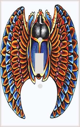 Egyptian Winged Scarab Switch Plate Cover