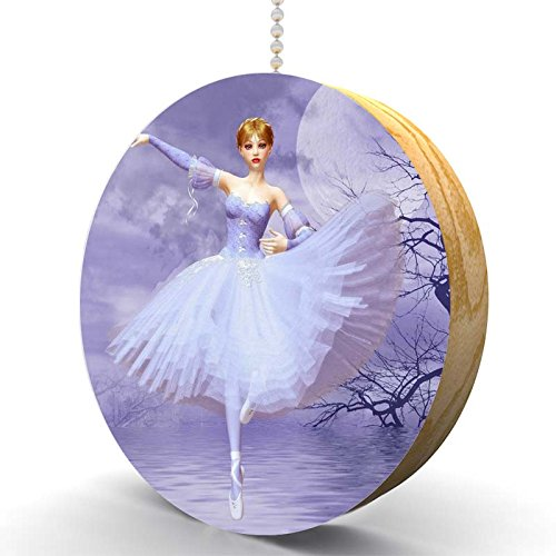 Ballerina Dream Hardwood Oak Fan/Light Pull