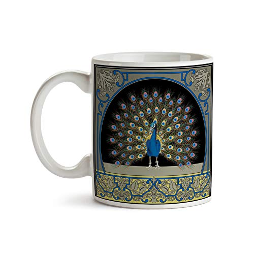 Art Nouveau Peacock 11oz Coffee Mug - Tea Mug
