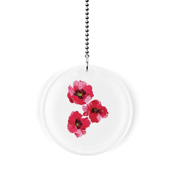 Red Velvet Poppies Fan Pull