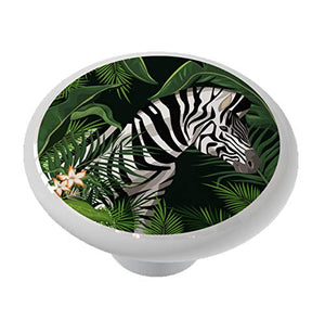Zebra in The Jungle Animal Drawer/Cabinet Knob by Gotham Decor