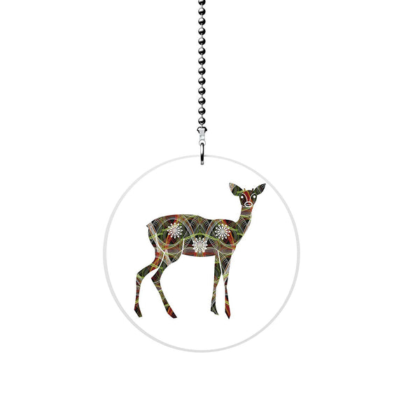 Art Pattern Deer Fan Pull