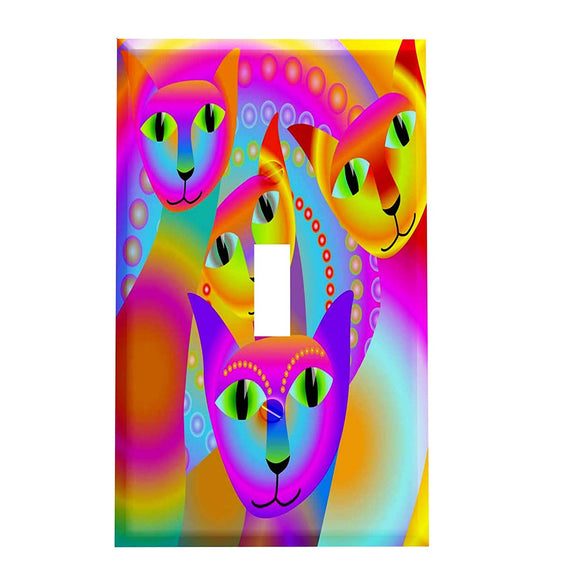 Rainbow Cats Switch Plate Cover