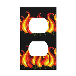 Chili Pepper Flames Outlet Cover