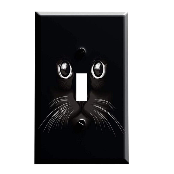 Black Cat in the Shadows Switch Plate Cover