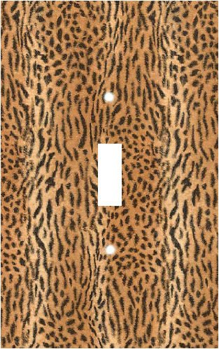 Leopard Skin Print Switch Plate Cover