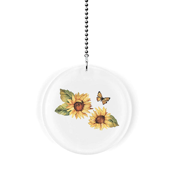Spring Sunflowers and Butterflies Fan Pull