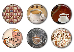 Coffee Time Refrigerator Magnet Set