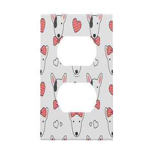 Bull Terrier Couple Decorative Outlet Cover