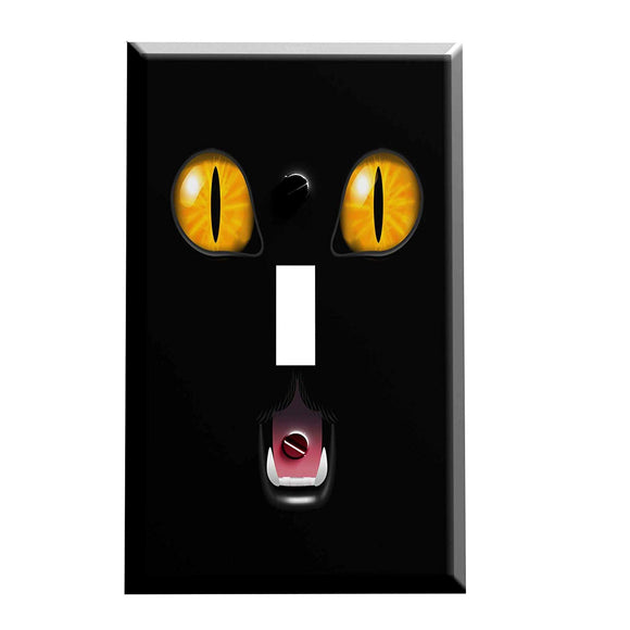 Scaredy Cat Face Switch Plate Cover