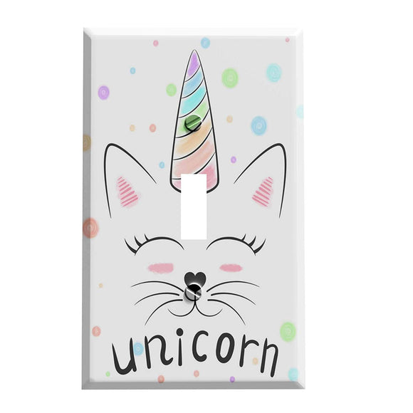 Unicorn Cat Switch Plate Cover