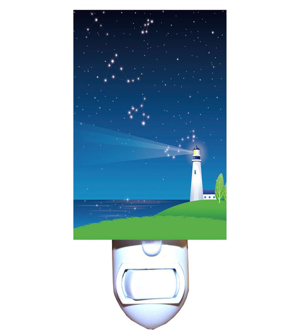 Starry Night Lighthouse Night Light