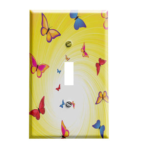 Butterfly Sun Swirl Switch Plate Cover