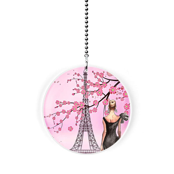 Springtime Paris Fashions Fan/Light Pull