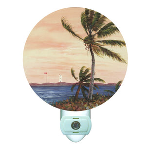 Breezy Palms Decorative Round Night Light