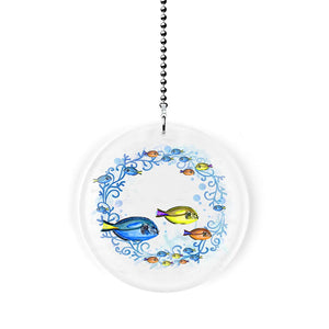 Tropical Fish Circle Fan/Light Pull