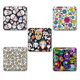 Fun Sugar Skull Pattern Square Refrigerator Magnet Set