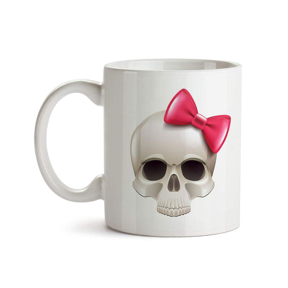 Bow Skull 11oz Coffee Mug - Tea Mug