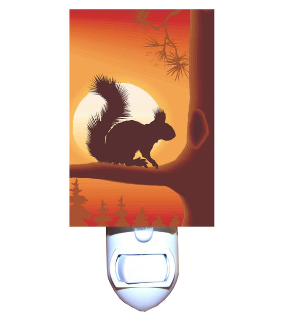 Squirrel Silhouette Night Light
