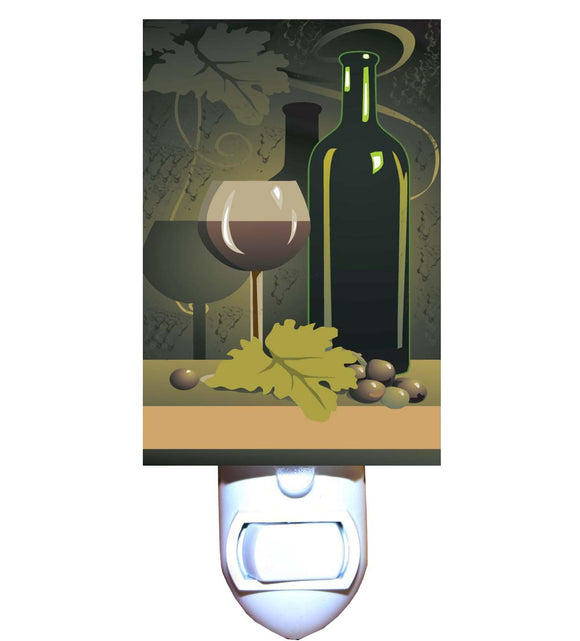Wine and Green Grapes Night Light