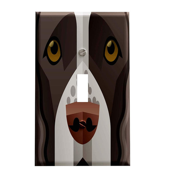Springer Spaniel Face Switch Plate Cover