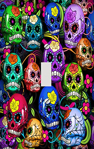 Colorful Sugar Skulls Switch Plate Cover