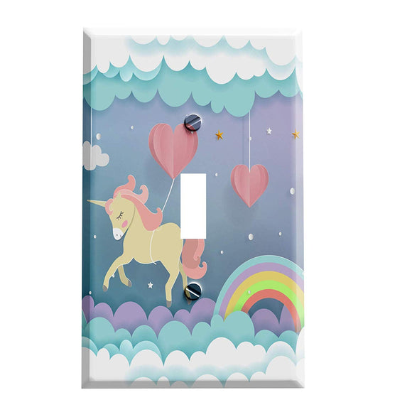 Unicorn Rainbow Dreams Switch Plate - Unicorn Home Decor