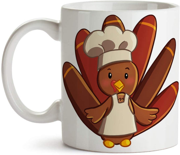 Thanksgiving Turkey Chef 11oz Coffee Mug - Tea Mug